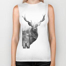 Deer in the woods Biker Tank