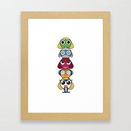 Leap Frogs in Space!! Framed Art Print