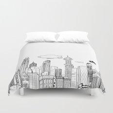 Gotham City Skyline Duvet Cover