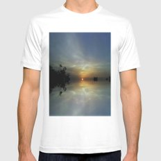 Dreaming Sunshine MEDIUM White Mens Fitted Tee