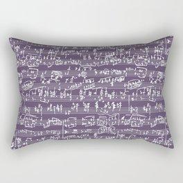 Hand Written Sheet Music // Honey Flower Rectangular Pillow