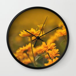 the yellows of spring Wall Clock
