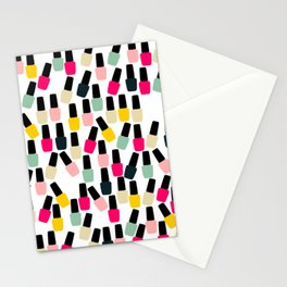 Cute Nail Polish Stationery Cards
