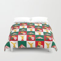 mexico Duvet Covers featuring Mexico City by Arts and Herbs