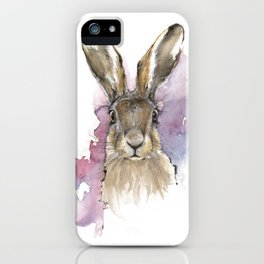 Hare portrait iPhone Case
