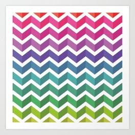 Zigzag Pattern Art Print