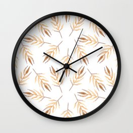 Autumn leaves pattern. Wall Clock