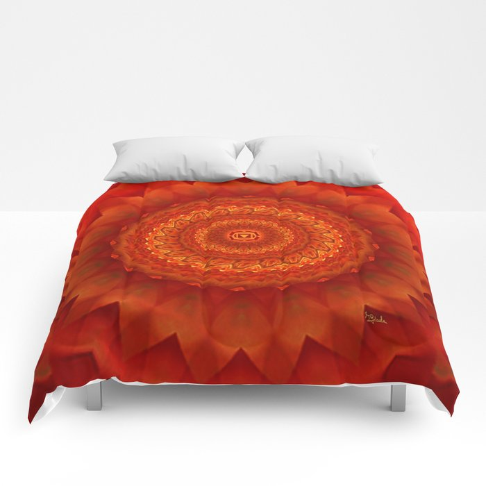 Muladhara chakra mandala Comforters