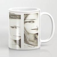 faces Mugs featuring Faces by Kráľ Juraj