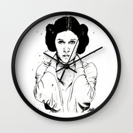 Carrie Fisher as Princess Leia Wall Clock