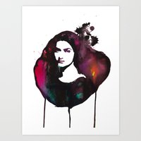 mona lisa Art Prints featuring Mona Lisa by Krista Luney