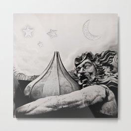 King Poseidon Ocean Mythology Greek God Sculpture New Orleans Mardi Gras Float Metal Print