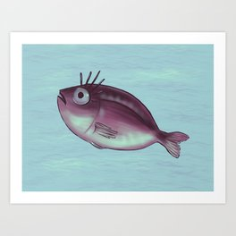Funny Fish With Fancy Eyelashes Art Print