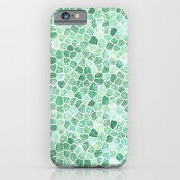 Muddled Puddles Pale Aqua Ocean Patchwork iPhone Case