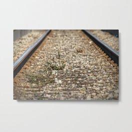 Train Tacks Metal Print