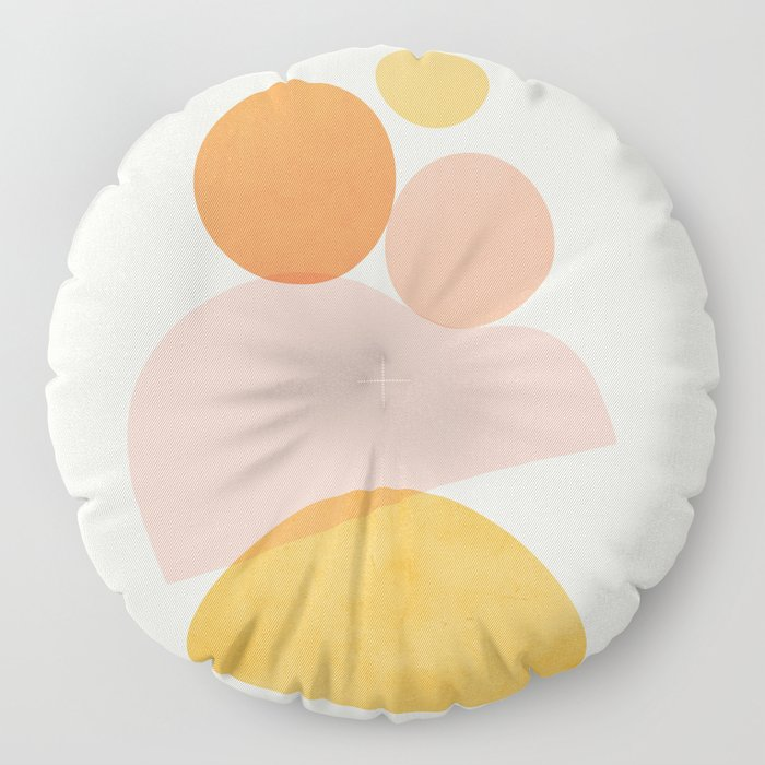 Abstraction_SHAPE_PLAYFUL_DAY_Minimalism_001 Floor Pillow
