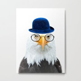 Funny Eagle Portrait Metal Print