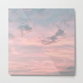 Pink and Blue Skyscape Metal Print