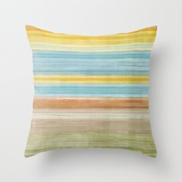 Colorbands Yellowstone Yellow Throw Pillow