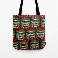 chocolate Tote Bags featuring chocolate by lennyfdzz