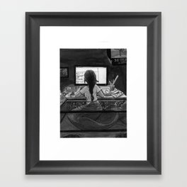 The Mermaid Engineer Framed Art Print