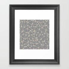 Ab Out Spots Grey Framed Art Print