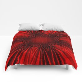 Pleated Red Comforters