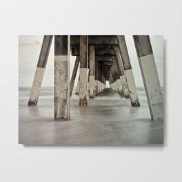 Long Exposure 2 Johnny Mercer's Pier Wrightsville Beach, NC Metal Print
