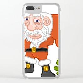 Buff Santa Clear iPhone Case