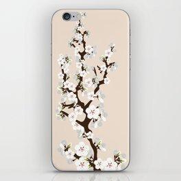 Japanese Sakura Cherry Blossoms (ivory/white) iPhone Skin