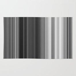 Black White Gray Thin Stripes Rug
