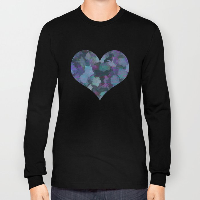 Colorful Flower Music Long Sleeve T-shirt