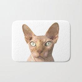 Sphynx cat portrait Bath Mat