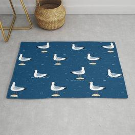 Seagulls blue Rug