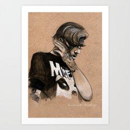 Zayn Charcoal sketch Art Print