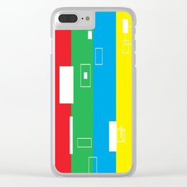 Simple Color Primary Colors Clear iPhone Case