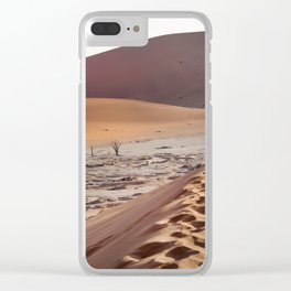Leave only foortprints Clear iPhone Case