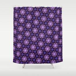 Ultra Violet Stars ornament on Dark Background Shower Curtain