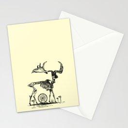 Gas Mask Deer Stationery Cards