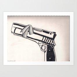 White Bullet Art Print