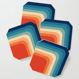 Retro 70s Color Palette III Coaster