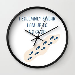 Modern Lines Solemnly Swear Abstract Wall Clock