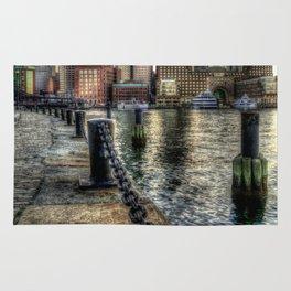 Boston Harbor walk Rug