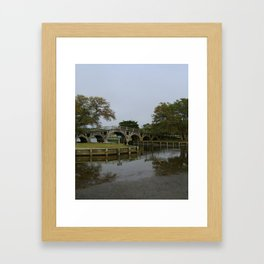 Historic Wooden Bridge At Currituck Light Station Framed Art Print