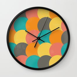 Bright Decaying Scales Wall Clock