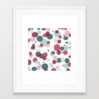 polka Framed Art Prints featuring Polka by Nichole B.