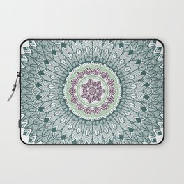 Color teal and purple feather mandala hippie boho Laptop Sleeve