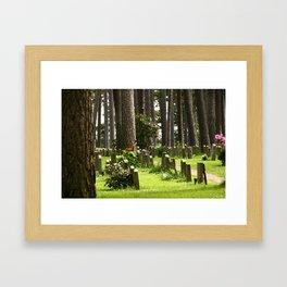 Skogskyrkogården Framed Art Print