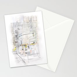 The reflection of a big city Stationery Cards