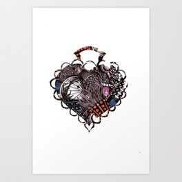 Heart Brooch Art Print
